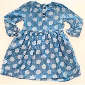 Gap Denim Polka Dot Dress